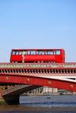 busslondon red Royaltyfri Fotografi