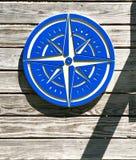 Bussola blu fotografia stock libera da diritti