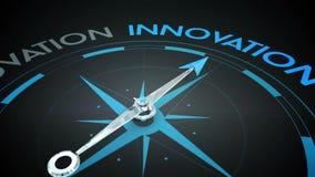Bussola che indica l'innovazione royalty illustrazione gratis