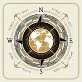 Bussola d'annata nautica 01 Illustrazione di Stock