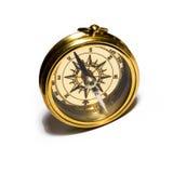 Bussola dell'oro di vecchio stile Fotografie Stock Libere da Diritti