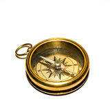 Bussola dell'oro di vecchio stile Fotografia Stock