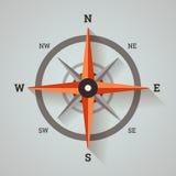 Bussola di rosa del vento Fotografie Stock Libere da Diritti