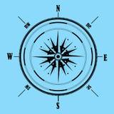 Bussola di rosa del vento Illustrazione di vettore geografia Immagini Stock