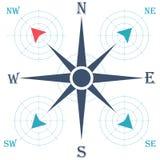 Bussola di rosa del vento Illustrazione di vettore geografia Fotografie Stock Libere da Diritti