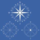 Bussola di rosa del vento Illustrazione di vettore geografia Immagine Stock Libera da Diritti