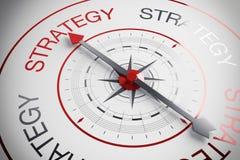 bussola di strategia dell'illustrazione 3d Fotografia Stock Libera da Diritti