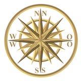 Bussola dorata - windrose - volante royalty illustrazione gratis