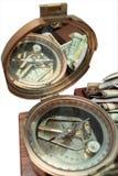 Bussola e soldi Immagini Stock Libere da Diritti
