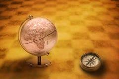 Bussola Europa Africa del globo del mondo royalty illustrazione gratis