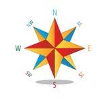Bussola multicolore della stella. Immagini Stock