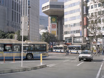 Busspost in Centrale Yokohama Stock Fotografie