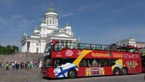 Busssighten turnerar Helsingfors Finland lager videofilmer
