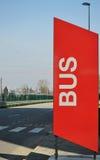 busssignaleringsstopp Royaltyfri Fotografi
