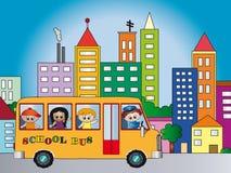 bussskola vektor illustrationer