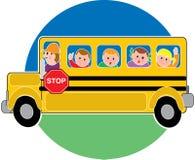 bussskola Fotografering för Bildbyråer