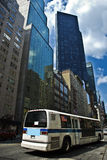 bussstad New York royaltyfri bild