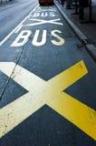 Bussstation Arkivbild