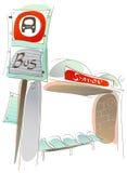 Bussstation Royaltyfria Bilder