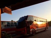 Bussstation Fotografering för Bildbyråer