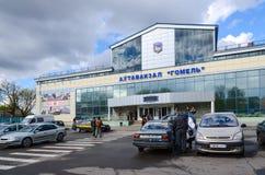 Bussstation Gomel, Vitryssland Arkivbilder