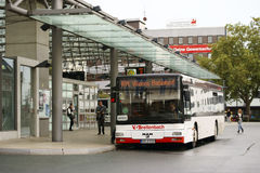 Bussstation Hamm Arkivfoto