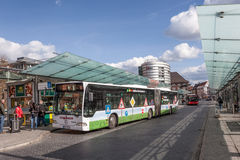 Bussstation i Bremen Arkivfoto