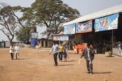 Bussstation i Cambodja Royaltyfria Foton