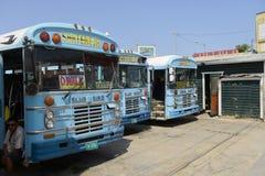 Bussstation i den Belize staden royaltyfri fotografi