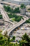 Bussstation i den Bergen staden i Norge Arkivbild