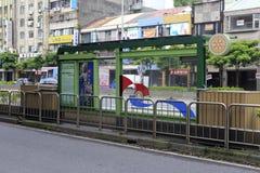 Bussstation i den taipei staden, taiwan Royaltyfri Foto