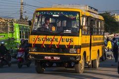 Bussstation i Pokhara Royaltyfria Foton