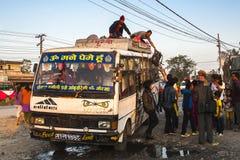 Bussstation i Pokhara Royaltyfri Bild