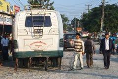 Bussstation i Pokhara Royaltyfria Bilder
