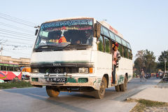 Bussstation i Pokhara Arkivbilder