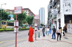 Bussstationen Royaltyfri Bild