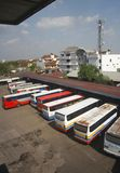 Busstation Stock Foto's