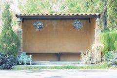 Busstation stock foto