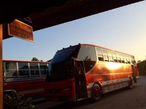Busstation Stock Afbeelding