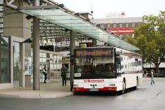 Busstation Hamm Stock Foto