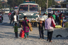 Busstation in Pokhara Stock Foto