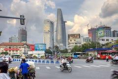 Busstation vicino al servizio Saigon di Benthan Fotografia Stock Libera da Diritti
