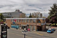 Bussterminal i i stadens centrum Victoria Arkivfoton