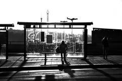 Busstop Imagen de archivo libre de regalías