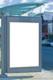 Busstop. With copy space for advertisement Royalty Free Stock Photo