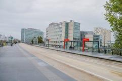 Busstop na estação de Hoofddorp os Países Baixos Fotografia de Stock Royalty Free