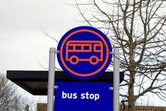 Busstoppschild Lizenzfreies Stockfoto