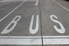 Busstrook stock afbeeldingen