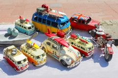 Bussurfbretter Sammlungs-Retro- Mini-Volkswagens van Beetle Lizenzfreies Stockbild