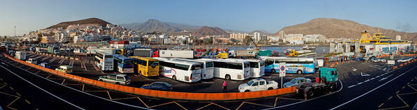 Bussy Los Cristianos harbor Royalty Free Stock Photo